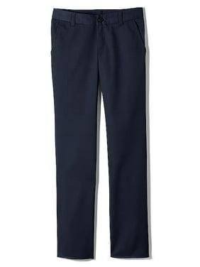 Lands' End Girls School Uniform Iron Knees Straight Leg Plain-Front Chino Pant (Little Girls & Big Girls)