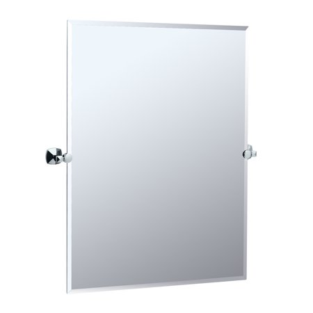 "Gatco 4149S Jewel 23-1/2""W X 31-1/2""H Rectangular Frameless Wall Mounted Mirror with Tilting Feature"