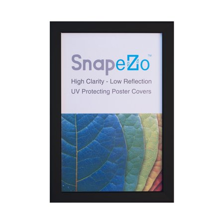 Black Weather-Resistant and Waterproof Snap Frame 8.5x11 Inch, 1.38' SnapeZo Profile, Outdoor Poster Display Unit