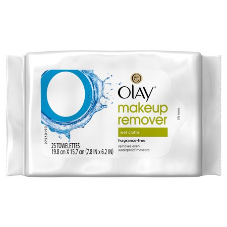 Olay Cleanse Makeup Remover Wipes, Fragrance Free, 25 count
