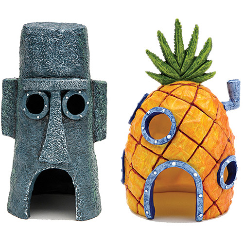 Penn Plax SpongeBob Homes Assorted Aquarium Decoration (Decoration May Vary)