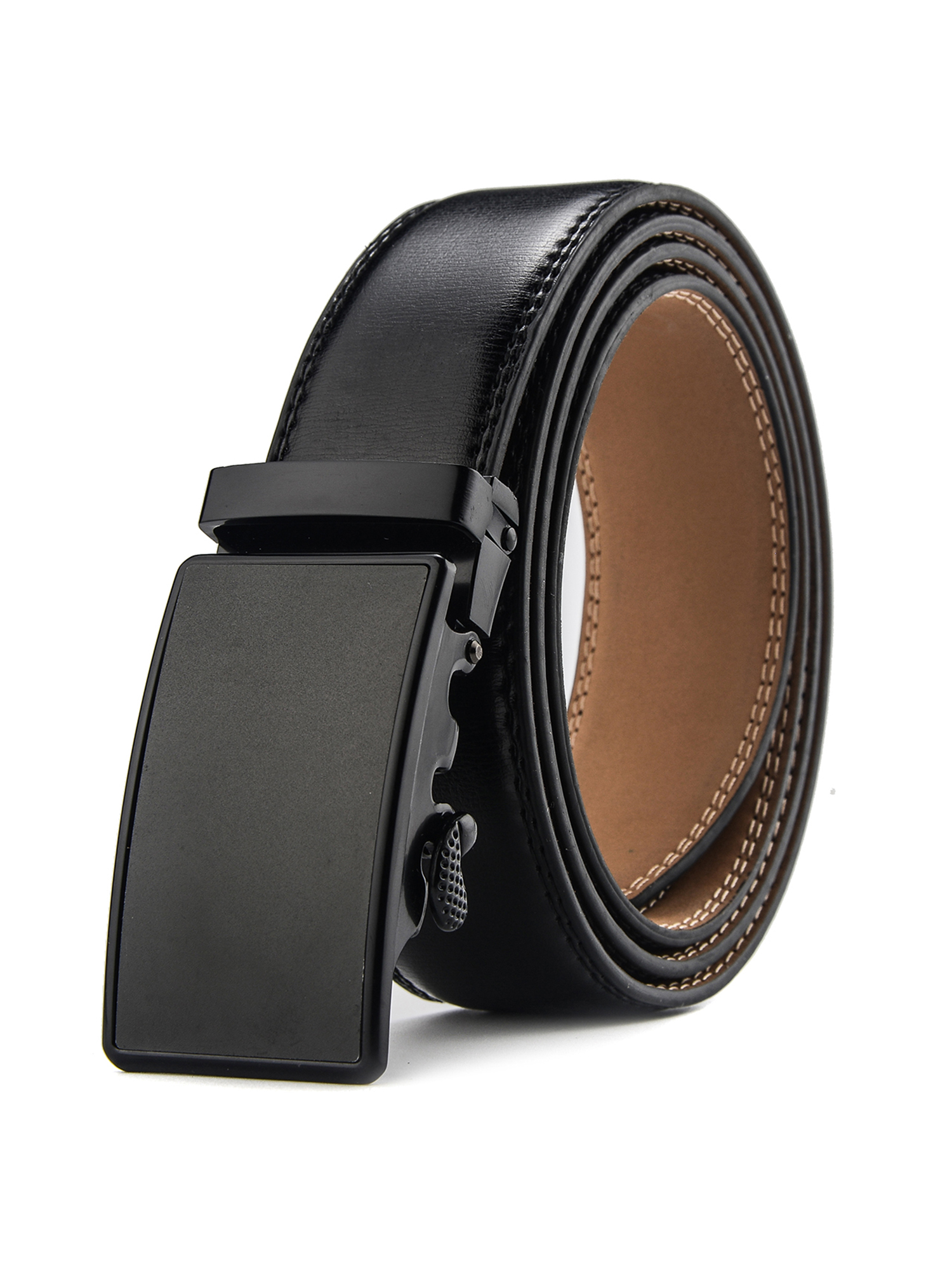 Men Leather Ratchet Belts For Men Elegant Gift Male Waistband Automatic Buckle