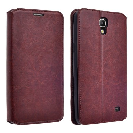 Samsung Galaxy Mega 2 G750 Case - Wydan Wallet Case Folio Flip Leather Kickstand Feature Credit Card Slot Style Cover Brown ()