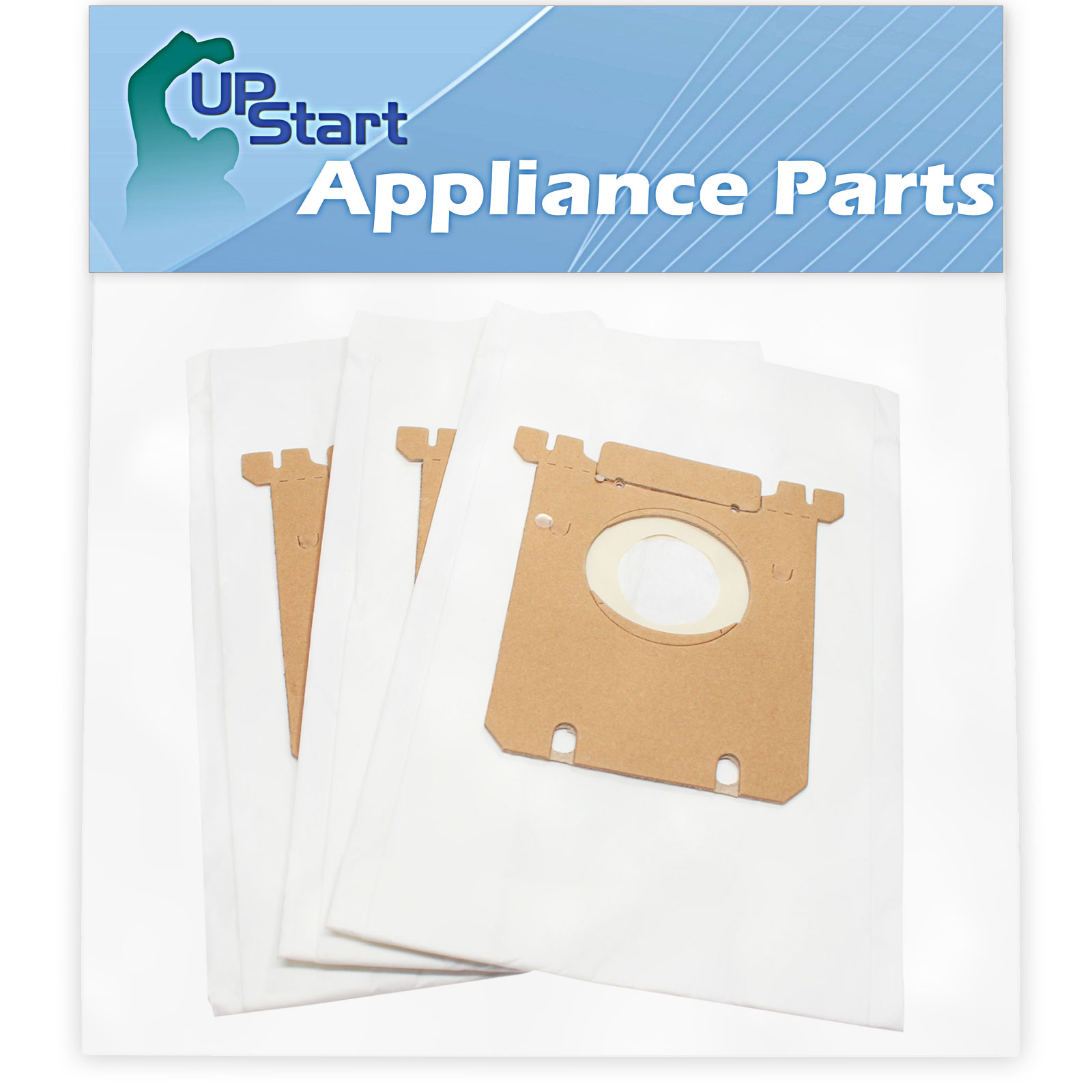 6 Replacement Electrolux EL6988E Oxygen Vacuum Bags & 2 Filter - Compatible Electrolux S-Bag Vacuum Bag & EL012B Filter - image 1 of 4