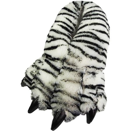 74356a8ae7a3 Norty Grizzly Bear Stuffed Animal Claw Slippers - Plush Paw Slippers -  Furry Fuzzy Soft Plush Animal Slippers - Toddlers Kids Mens and Womens  Adults - Fun ...