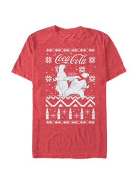 309d257fae2ff5 Product Image Coca Cola Men's Ugly Christmas Sweater Polar Bear T-Shirt