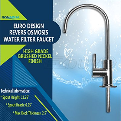 Ronaqua Water Filter Purifier Faucet European Style Brushed Nickel ...