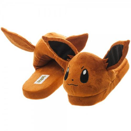 Pokemon Eevee Plush Adult Slippers Small