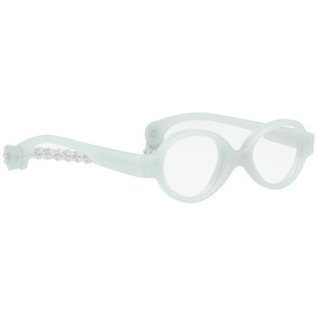 Miraflex Baby Zero Infant Eye Glass Frames   31 15 Clear Gray   Age 3 10 Mo
