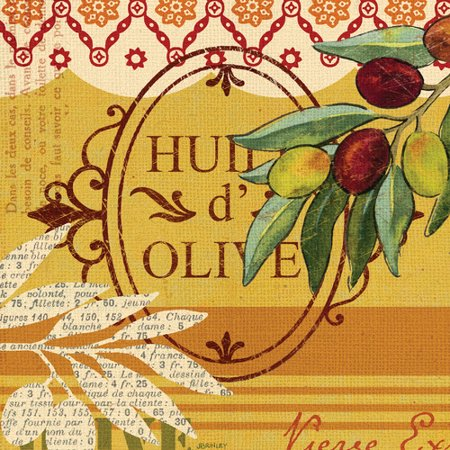 Portfolio Canvas Decor Olive Presse Huile by Jennifer Brinley Graphic Art on Wrapped Canvas