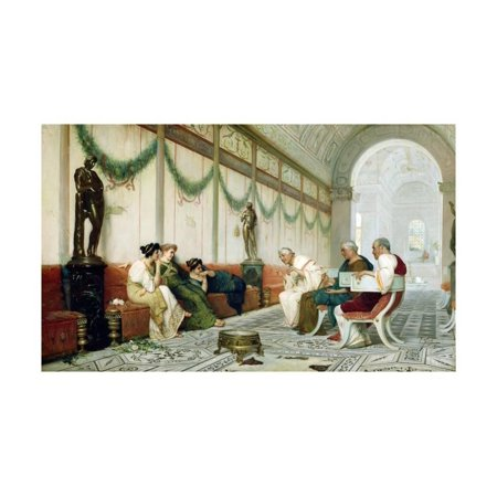 Roman Senator and Important Figures with Three Women by Ettore Forti Print Wall Art