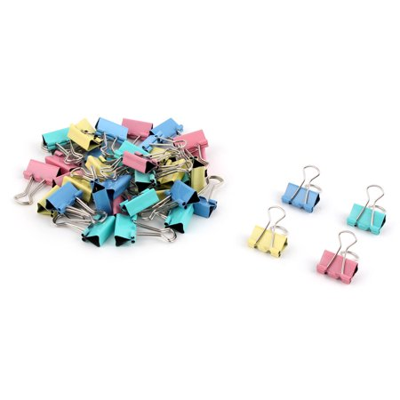 Home Office Metal Photo File Paper Mini Binder Clips Assorted Color 40Pcs