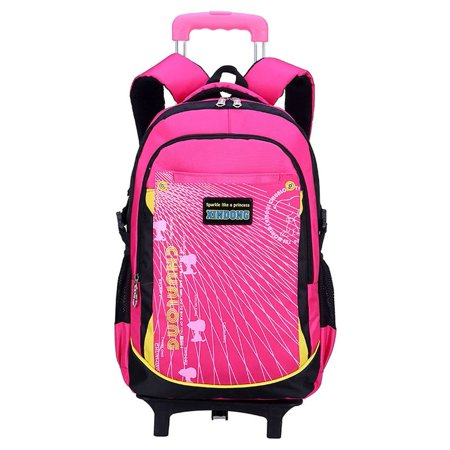 c75817c51c5a Rolling Backpack for Girls School Bag Travel Bags Kids Suitcase with Wheels