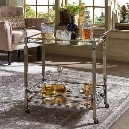 Chelsea Lane Antique Brass Clear Tempered Glass Metal Kitchen