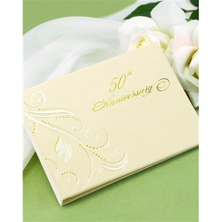 50th  Swirl Dots Personalized Guest Book