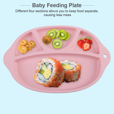 Yosoo Silicone Baby Infant Feeding Plate Fruit Dishes Tray Children Kids Tableware, Baby Feeding Tray, Baby Feeding Plate - image 8 of 8