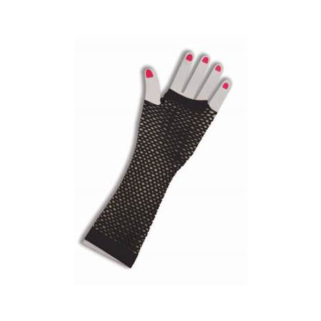 Black Fishnet Fingerless Long Gloves Halloween Costume Accessory](Black Cat Halloween Costume Accessories)