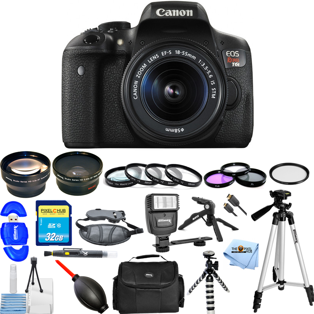 UNASSIGNED Canon EOS Rebel T6i 24.2MP DSLR Camera with 18...