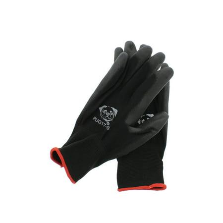 Global Glove PUG17 Gloves Black Nylon, Black Polyurethane Coated Small 12 -