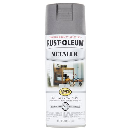 (3 Pack) Rust-Oleum Stops Rust Metallic Charcoal Brilliant Metal Finish Spray Paint, 11 oz