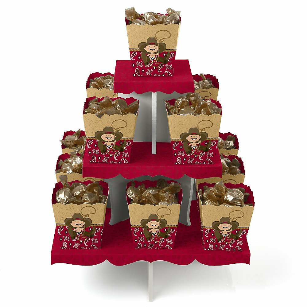 Little Cowboy - Western Candy Stand & 13 Party Candy Boxes