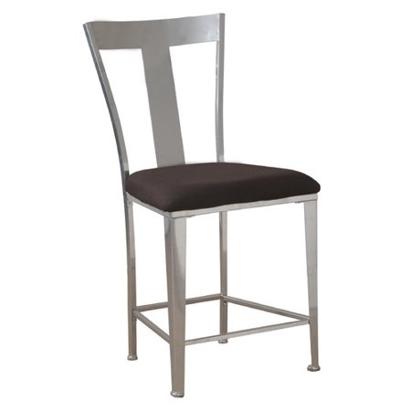 Powell Metal Contemporary Counter Stool, Silver Metal