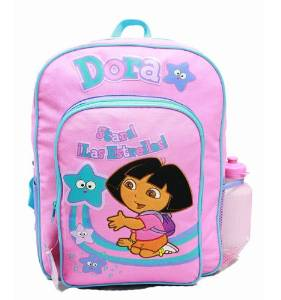 Backpack - Dora the Explorer - Stars w/Water Bottle (Large Bag) New 20923 (Explorer Board Bag)