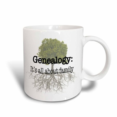 3dRose Genealogy it?s all about family, Ceramic Mug, 11-ounce