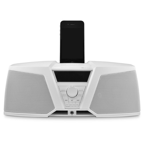 Kicker 09IK150W iKICK Digital Stereo System for Apple iPod/iPhone with AM/FM Tuner and Alarm