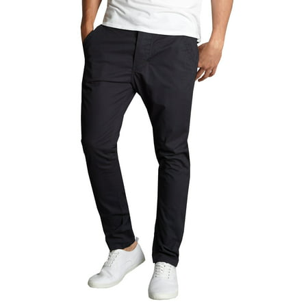 Mens Cotton Chino Pants Slim Fit Casual Stretch