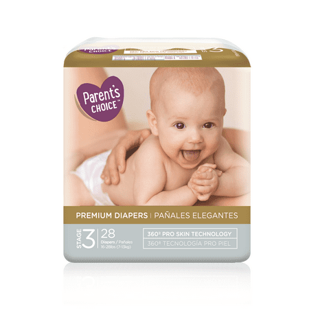 Parent's Choice Premium Diapers, Size 3, 28 Diapers