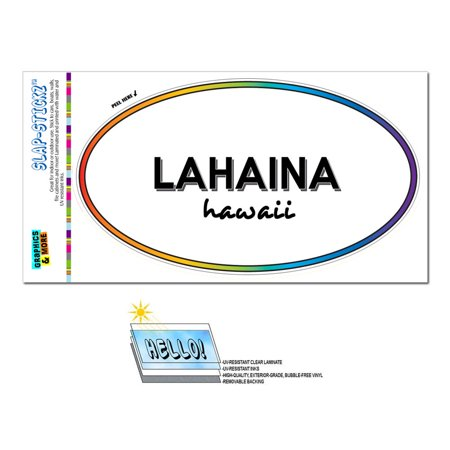 Lahaina, HI - Hawaii - Rainbow - City State - Oval Laminated Sticker](Lahaina Hi Halloween)