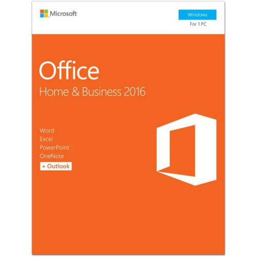 Microsoft Office Home & Business 2016, 1 PC (Product Key Card)