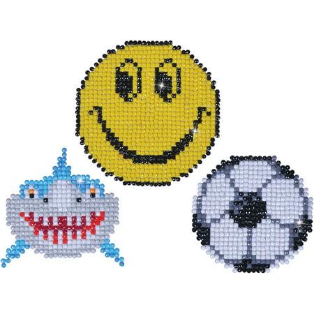 Faceted Art (Diamond Dotz Diamond Magnets Facet Art Kit-Assorted Smile 3/Pkg)