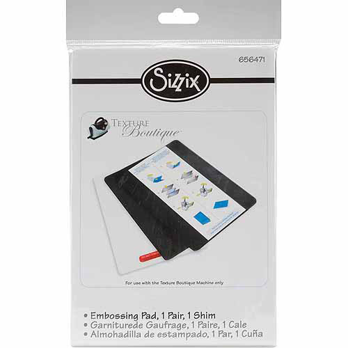 Sizzix Texture Boutique Embossing Pads 1, Pair, Standard With Mylar Shim