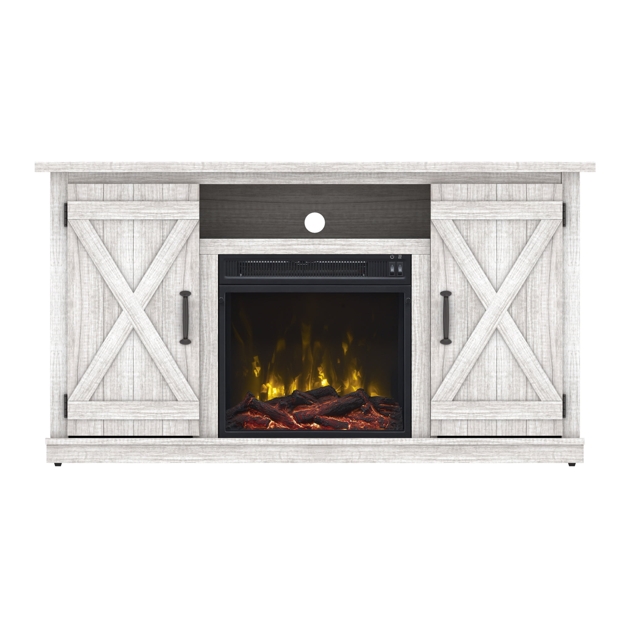 Electric Fireplace Tv Stand Wood Heater Media