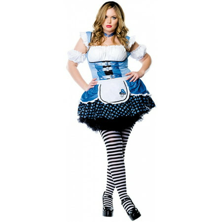 magic mushroom alice adult costume plus size 1x2x