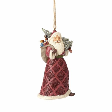 Jim Shore Heartwood Creek 4058757 Victorian Santa w Tree Ornament 2017
