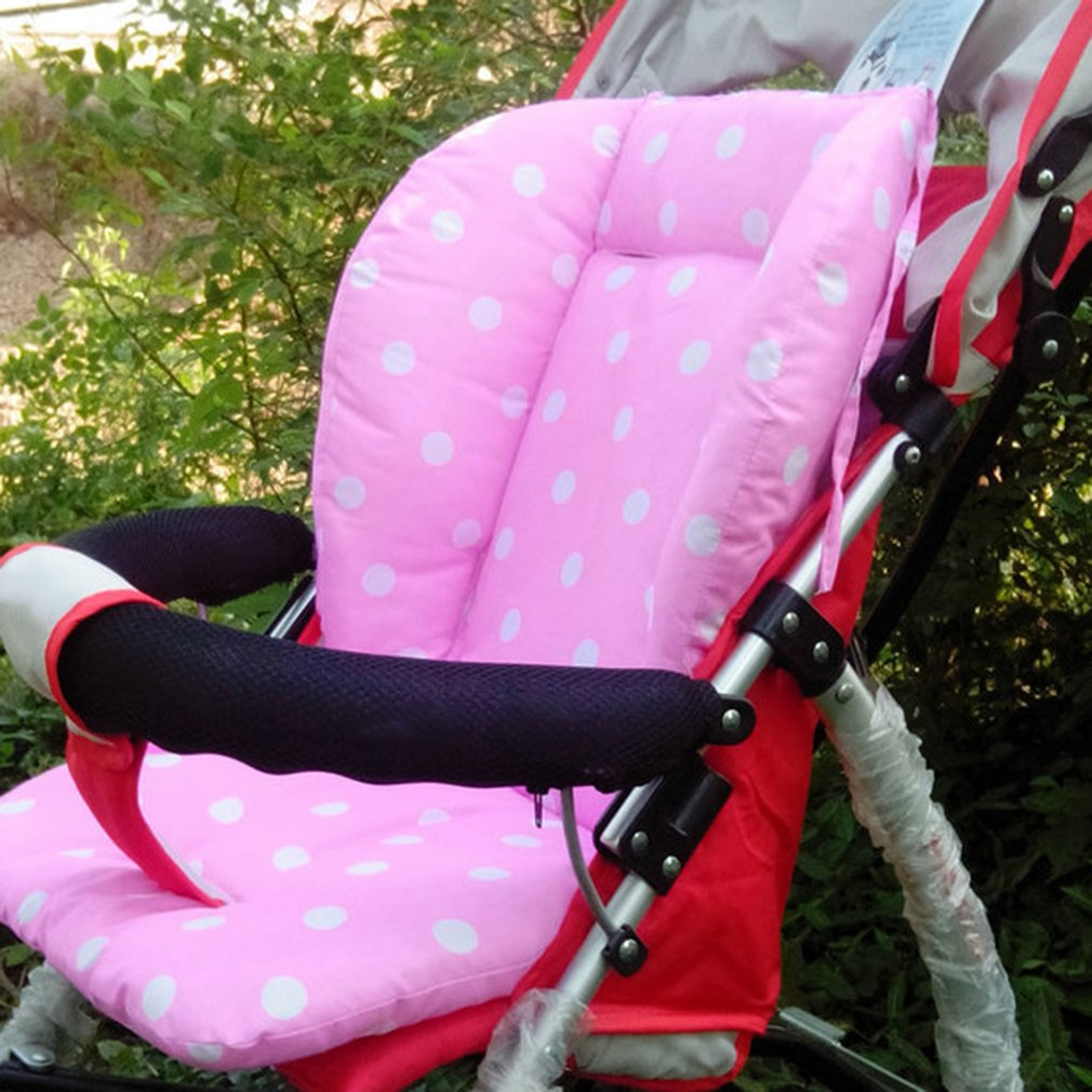 Portable Baby Stroller Polka Dot Printed Comfortable Seat Cushion Pads