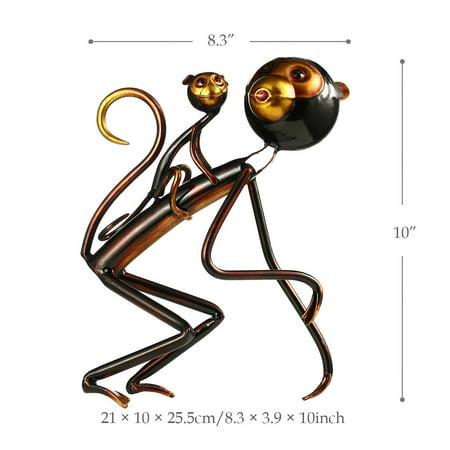Monkey Carrys Baby Tooarts Metal Sculpture Iron Sculpture Abstract Sculpture Modern Sculpture Home Decoration Ornament Gift - image 3 de 7