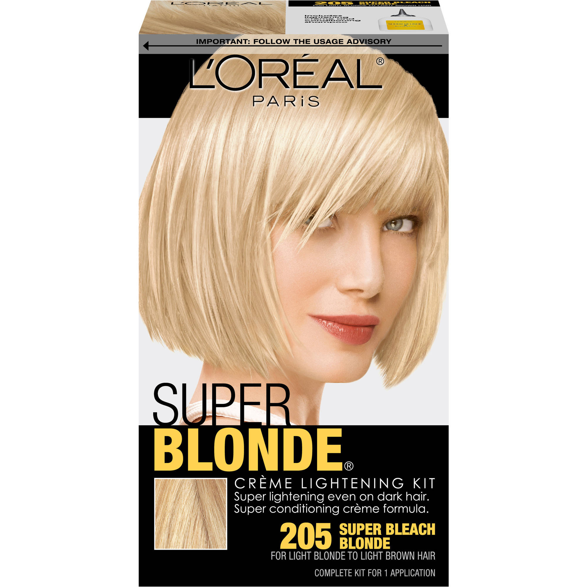 L'Oreal Paris Super Blonde Creme Lightening Kit, Super Bleach Blonde 205