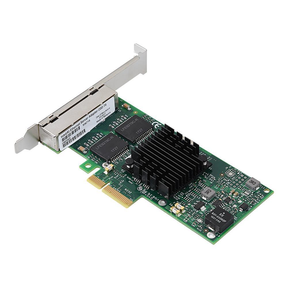 I350-T4 PCI-Express PCI-E Four RJ45 Gigabit Ports Server Adapter NIC New