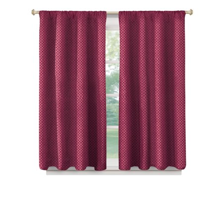 100 Blackout Curtain Panel With Basket Weave Texture