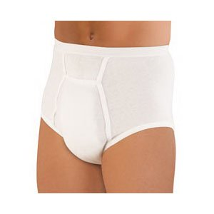 Sir Dignity Washable Brief with Built-In Protective Pouch Small 30'' - 32'' [Sold by the Each, Quantity per Each : 1 EA, Category : Adult Protective Underwear, Product Class : - Leather Brief Pouch