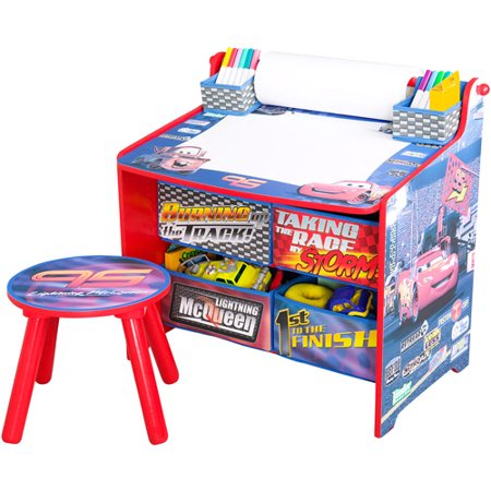 Disney cars art desk with storage organization - Art desk with storage organization ...