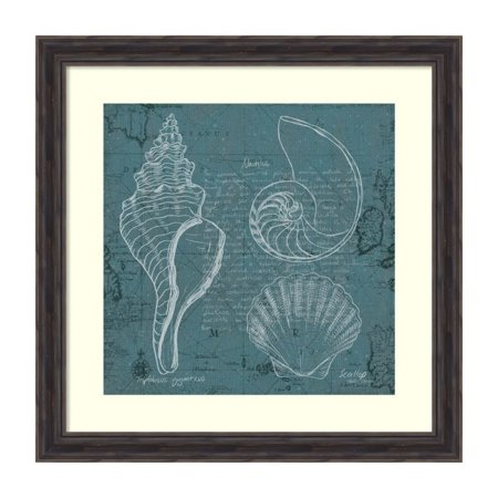 Marco Fabiano 'Coastal Blueprint I' Framed Art Print