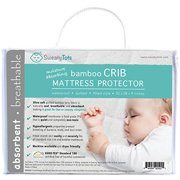 Crib Mattress Protector for Hot or Sweaty Sleepers - Waterproof Quilted Bamboo Pad/Cover/Topper for Crib and Toddler Beds