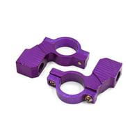 "2Pcs 10mm Thread 7/8"" Motorcycle Handlebar Rearview Mirror Holder Adaptor Purple"