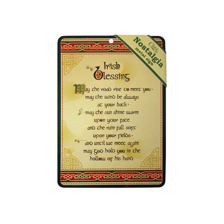 Irish Baby Blessing (Royal Tara  Metal Sign Irish Blessing Nostalgia 21x15)