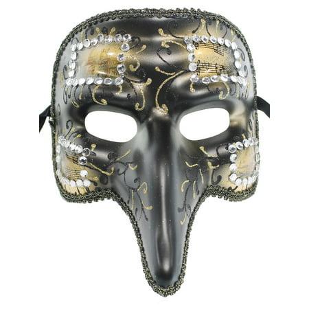 SHORT NOSE JOKER MASK -  Gothic Costume - MASQUERADE - Joker Masquerade